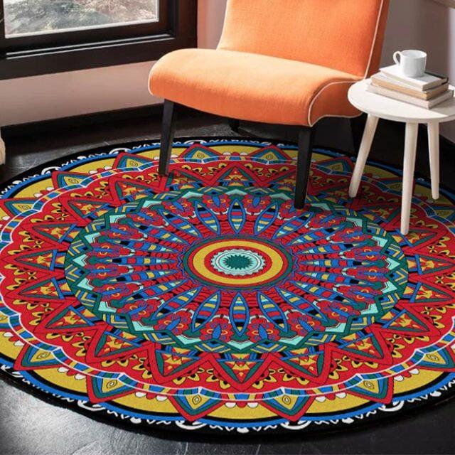 Aztec-inspired Mandala Flower Carpet