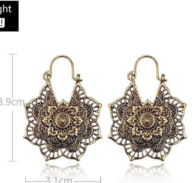 Bohemian Vintage Mandala Flower Dangle Earring