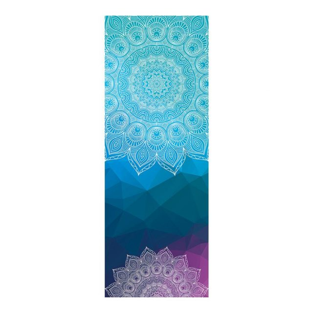 Yoga mat towel printing towel antibacterial non-slip sweat fitness blanket practice Pilates blanket